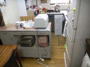 キッチン床補修 施工前